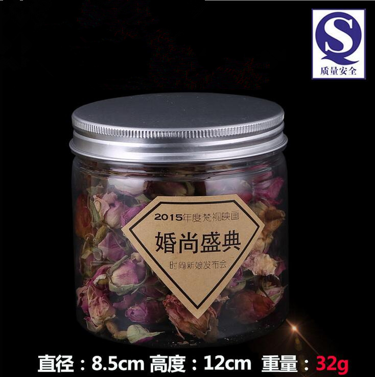 126pcs/lot 420ml PET beverage containers wholesale 420g tea coffee clear storage jars 14.8oz wholesale food packaging containers