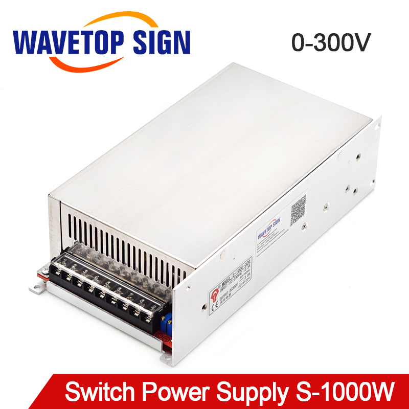 WaveTopSign S-1000W DC régulateur de tension Réglable Dispositif alimentation à découpage 0-300 V