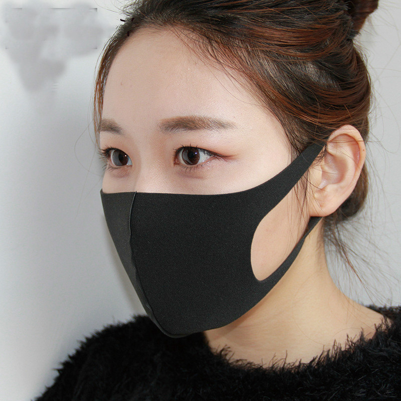 Face Mask Cotton Mouth Mask Black Anti Haze Dust Masks Filter Windproof Mouth-muffle Bacteria Flu Fabric Cloth Respirator &2 Apparel Accessories