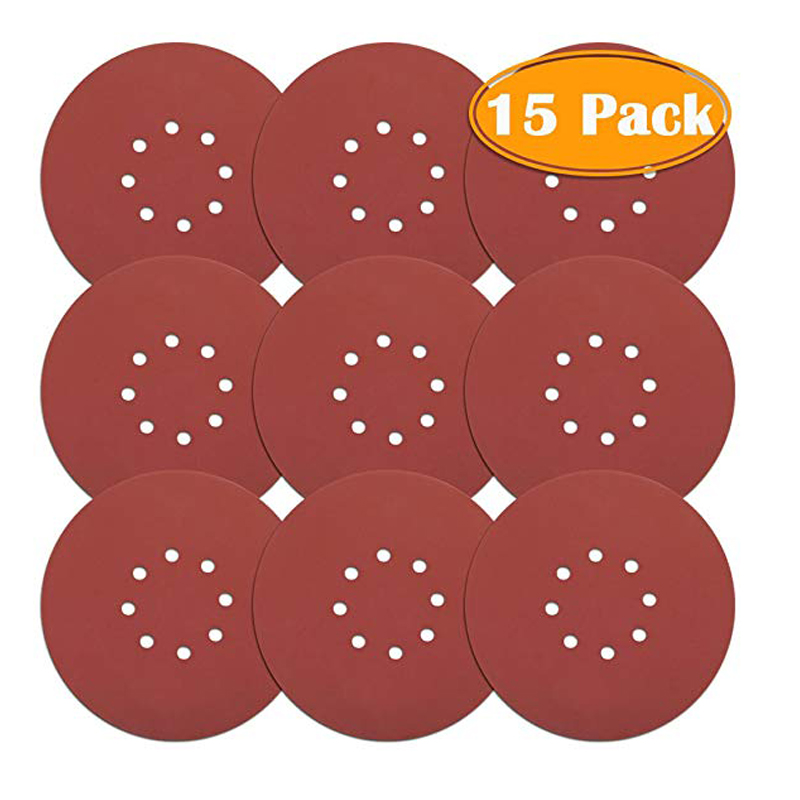 Drywall Sander 80 150 240 Grit 9inch Sanding Discs Hook And Loop Sandpaper 15 Pack Grit Sanding Discs Sandpaper
