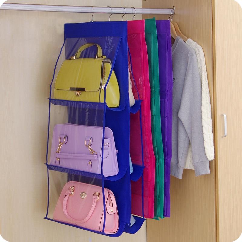 Familie Organizer Rucksack handtasche Aufbewahrungsbeutel Hängen Schuhaufbewahrungstasche Hohe Hause Versorgt 6 Tasche Closet Rack Kleiderbügel