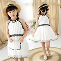 kids girl summer sleeveless dress 2017 new baby girls fashion clothing big virgin princess veil 4/5/6/7/8/9/10/11/12 years