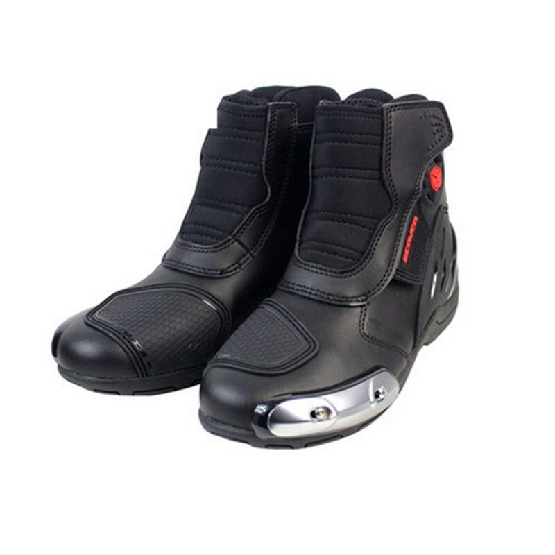 SCOYCO мотоцикл Сапоги для верховой езды из микрофибры Мотокросс гонки по бездорожью ботильоны Уличная обувь для верховой езды защитный Шесте...