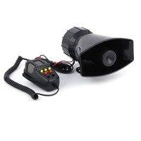 12V 100W 7 Sound Loud Car Warning Security Alarm Police Fire Siren Air Horn PA Speaker