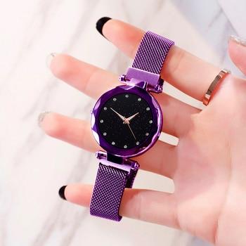 Luxury Women Watches Ladies Magnetic Starry Sky Clock Fashion Diamond Female Quartz Wristwatches relogio feminino zegarek damski 1