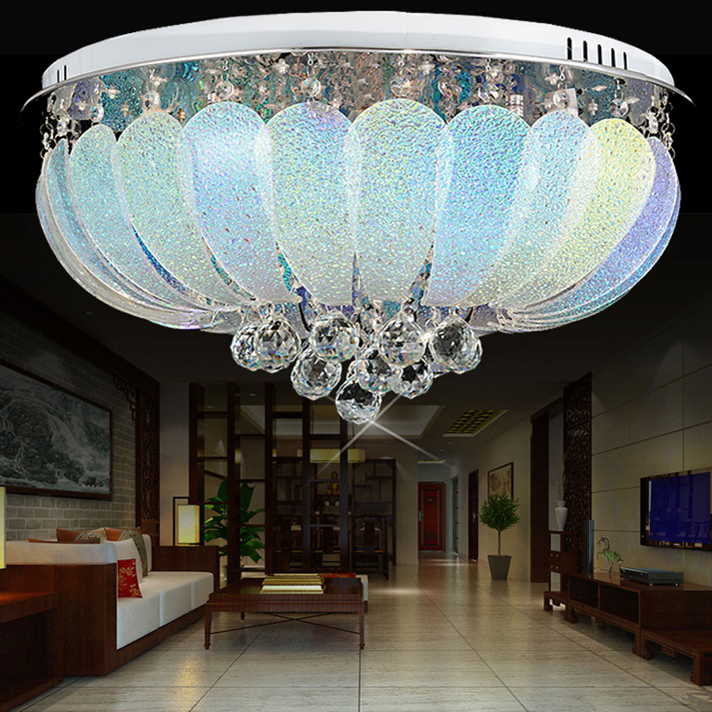 HGHomeart Crystal Lamp Ceiling Lamps LED Decorated with Round Lights ...