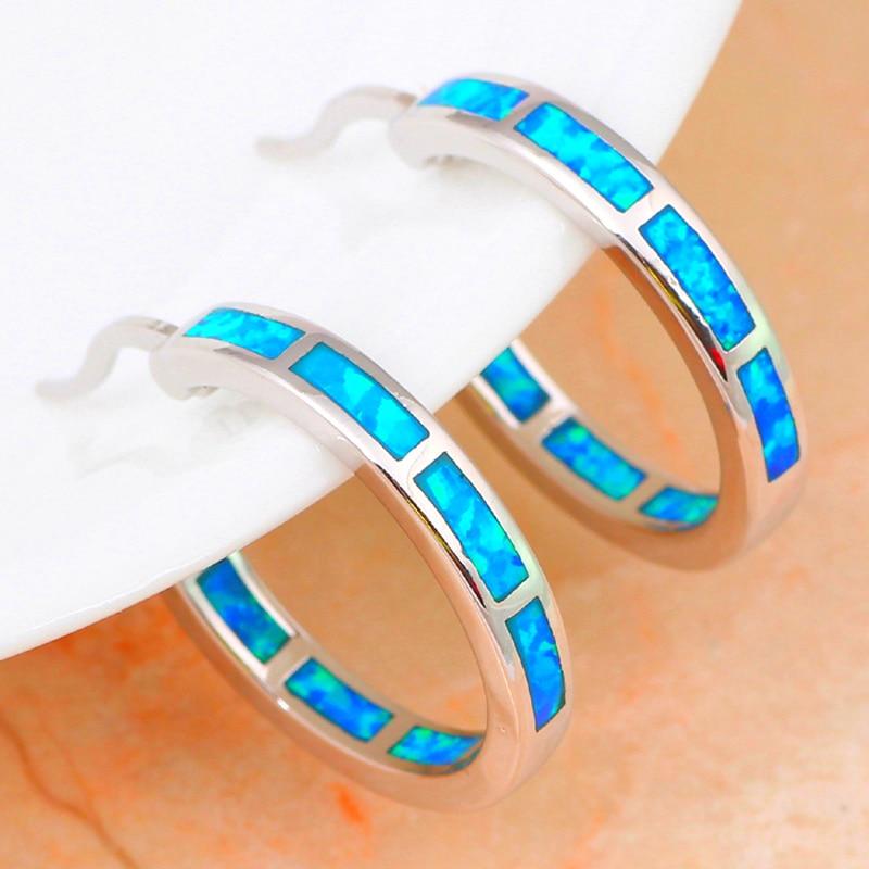 brincos engros super leverandør nye blå brand opal sølv stemplet - Mode smykker - Foto 4