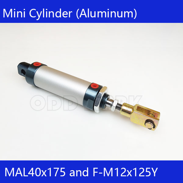 Free shipping barrel 40mm Bore175mm Stroke  MAL40x175 Aluminum alloy mini cylinder Pneumatic Air Cylinder MAL40-175 16mm bore 100mm stroke aluminum alloy pneumatic mini air cylinder mal16x100 free shipping