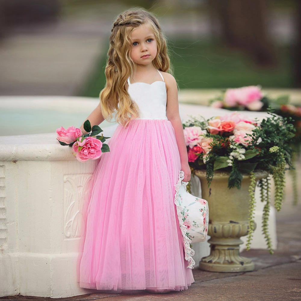 Summer Baby Kids Dresses Girls Sleeveless Princess Dress Spring Summer Party Wedding Bridesmaid Pageant Formal Tutu Dress toddler kids baby girls princess dress party pageant wedding dresses with waistband