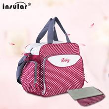 2015 Free Shipping  Fashion Multifunctional 600D Baby Diaper Bags Nappy Bags Waterproof Large Capacity Mommy Bag Changing Bag