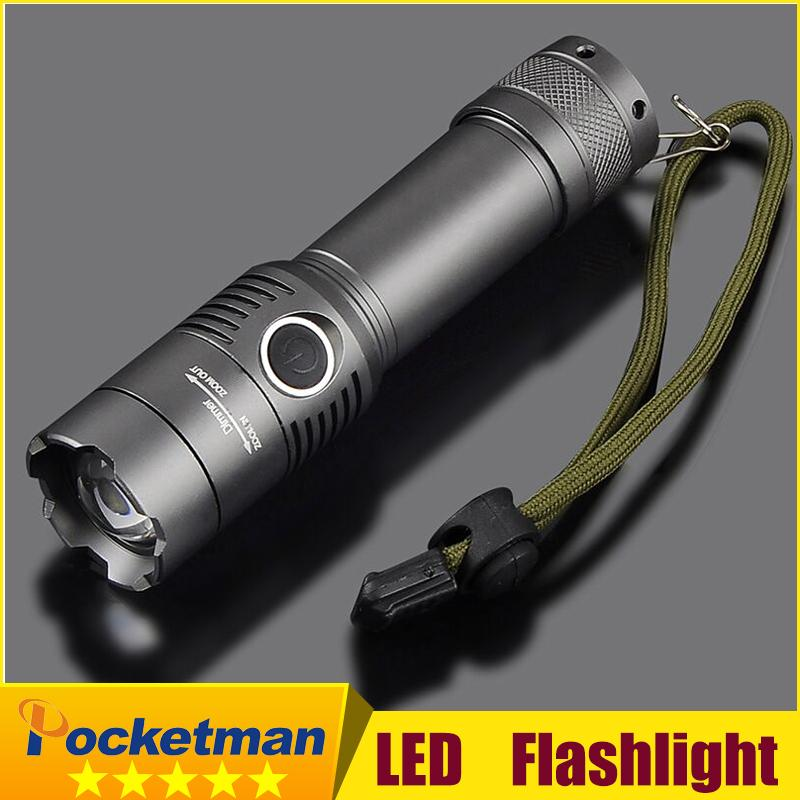 led mini keychain rechargerable Flashlight 2000 Lumens XML-T6 Torch 3 Modes Flashlight Tactical With AAA Battery Holder