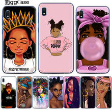 2bunz Melanin Poppin Aba Soft Phone Case For Samsung A10 A20 A30 A50 A70 A6 A8 A7 A9 S10 S10e Plus 2018 Fashion Black Girl Cover(China)