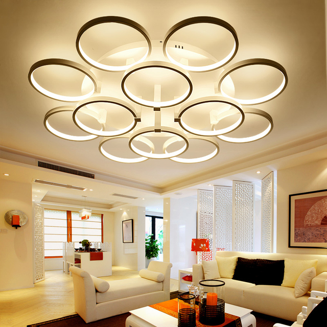 Living Hall Lighting Throughout Led Radiant Dome Lights Living Room After The Modern Simple Atmosphere Home Bedroom