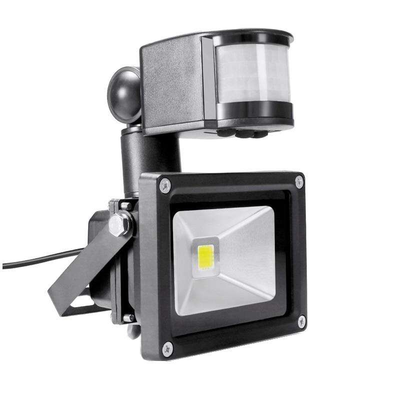 PIR 10W LED Floodlight Ivanowa 12V 24V Input Spotlight Waterproof Solar System Garage Security Motion Sensor Time Adjustable