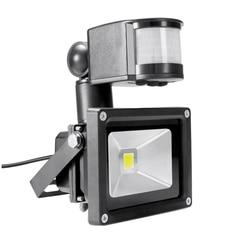 Holofote pir ivanowa 10w 12v 24v, sistema solar à prova d'água, sensor de movimento para garagem e segurança ajustável