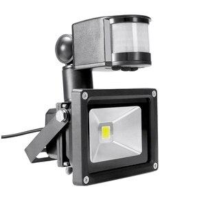 PIR 10W LED floodlight Ivanowa 12V 24V input spotlight waterproof Solar system garage security Motion Sensor Time adjustable(China)