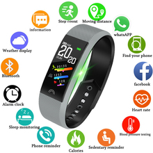 LIGE 2019 New Sport Smart Bracelet Heart Rate Monitor Pedometer Waterproof Fitness Tracker Bluetooth Watch Band For Android IOS