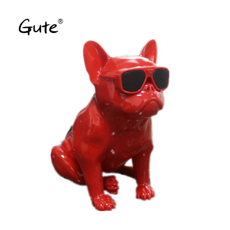 цена Gute hot ultra mini Aero Bulldog wireless Bluetooth Speaker Dog Full portable French Aerobull Nano Speaker caixa de som player