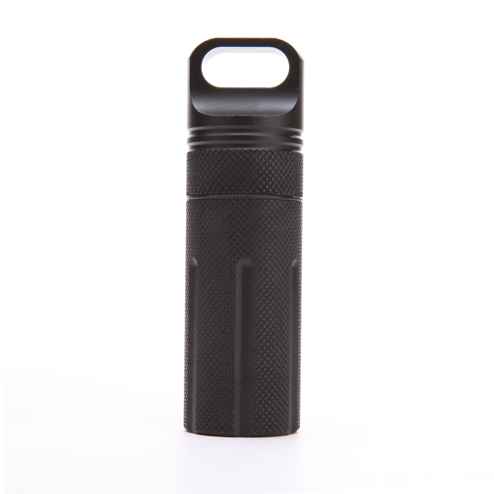 Waterproof CNC Keyring EDC Survival Pill//Match Case Box Container Lid Aluminum