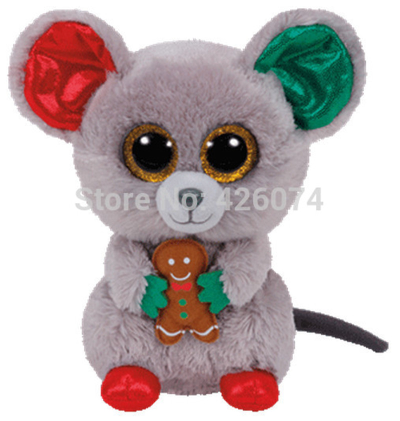 New Beanie Big Eyes Stuffed Animals Mac Mouse Kids Plush