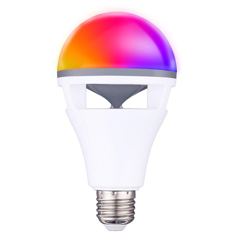 Bluetooth app contrôle haut-parleur ampoule lampe de haute qualité RGBW E27 ampoule avec bluetooth haut-parleur musique jouant coloré haut-parleur ampoule - 4