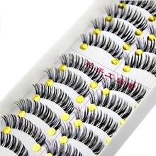 30pair BeautyTransparent Cheap Eyebrows False Eyelashes Makeup Natural Long Cross Fake Thick Eye Lashes Extension
