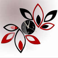 hot sale diy Acrylic mirror wall clock stickers Modern decor Living Room gift home furniture sticker