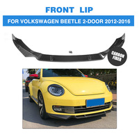Carbon Fiber Front Bumper Lip Spoiler for Volkswagen Beetle 2 Door 2012 2016 A Sytle Car Styling FRP Unpainted