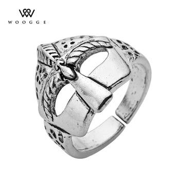 Joyería de moda 2018, nuevo Casco Espartano, anillos paganos, Anillo de acero...