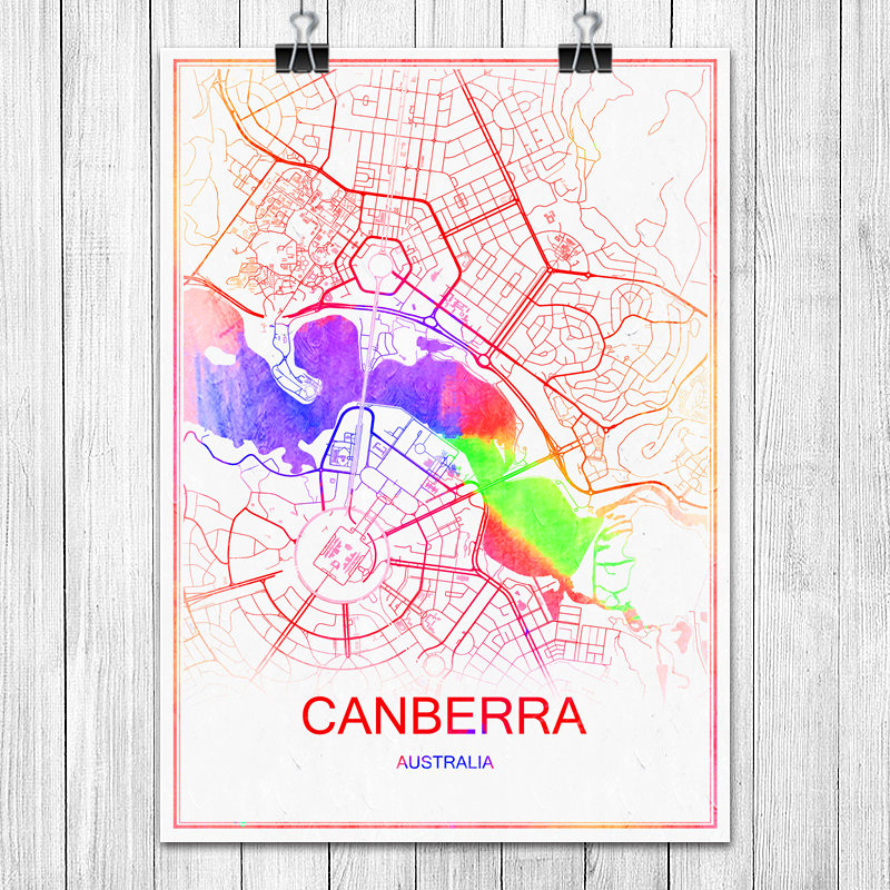 Australia Map Poster PromotionShop for Promotional Australia Map