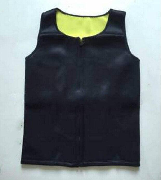 Mens Sweat Neoprene Body Shapers Zipper Vest Tops Slimming Fitness Weight Loss Shapewears Plus Size S-3XL 3