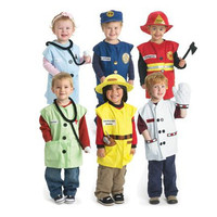 Halloween Party Occupation Uniform Role Play Police Doctor Cook Soldier Fireman Unisex Child Kids Costume Cosplay