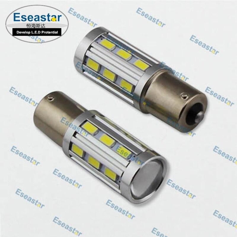10pcs/lot eseastar good quality 18 LED SMD5630+5W C.R.E.E high power led,p21w c.r.e.e led light,1156 car bulb,ba15s led tail