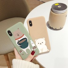 Cute Animal Phone Case For iphone 7 8 XS Max XR X 10 XS 6 6S 7 8 Plus Case Soft Silicone Couple Back Cover For iphone 6 7 8 Capa(China)