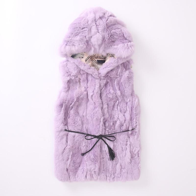 все цены на JKP 2018 Children's Fur Coat Vest Girls High Rex Rabbit Fur Casual Long Hooded Jacket Children's Fashion Coat ZPC-128 онлайн