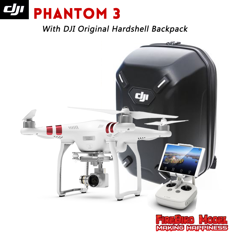 DJI Phantom 3 Standard with Original Hardshell Backpack FPV Drone built in 2.7K HD camera , GPS system, live HD view,