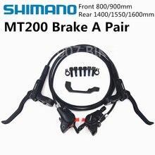 2019 ใหม่ SHIMANO MT200 M315 M365 M355 เบรคจักรยานเสือภูเขา Hidraulic เบรค MTB ซ้ายและขวา 800/1400 มม.M355 เบรค