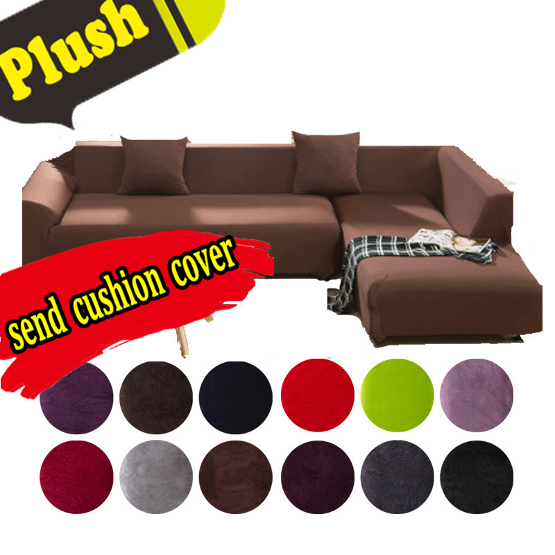 Couch Cover Elastic Soft Polyester Spandex Slipcover Sofa Protector Cover 1  3 Seater Home Textile L Shaped Universal Furniture C-in Sofa Cover From  Home