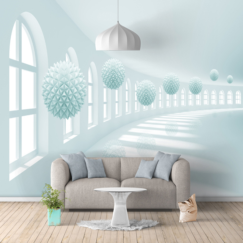 Modern Simple 3D Space Expansion Art Mural Wallpaper Living Room Bedroom Background Wall Paper For Wall 3 D Papel De Parede Sala