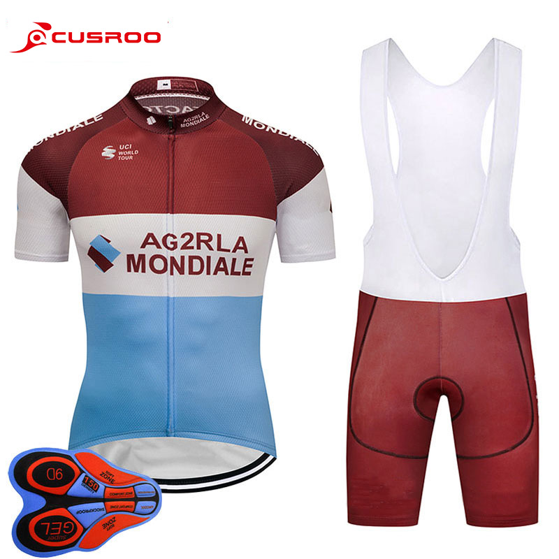 2018 NEW AG2R Cycling jersey 9D gel bike shorts set Ropa Ciclismo mens summer team pro BICYCLING wear Maillot Culotte