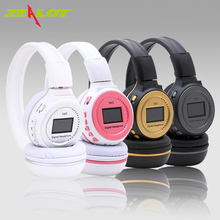 Zealot N65 Earphones Wireless TF Digital Stereo Headband Music Player FM Radio LCD stereo earbud for