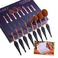 Neue Oval Make-Up Pinsel Set Professionelle Concealer Foundation Powder Blending Pinsel Zahnbürste bilden Werkzeuge