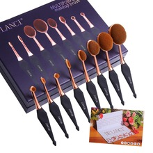 New Oval Makeup Brush Set Professional Concealer Foundation Powder Blending Brushes Toothbrush Make up Tools