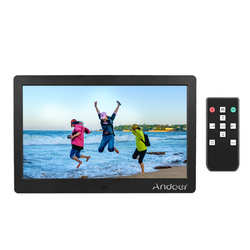 Andoer 10 Inch Ips Photo Frame Digital Remote Control Electronic Album 1024*600 With Clock /alarm Clock/ Calendar/Mp3 Mp4