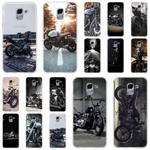 Retro Cruz Moto Motocicleta Para A Caixa Do Telefone Samsung Galaxy j6 J8 J7 J5 J3 J4 Plus 2018 2017 2016 J610 prime Soft Silicone Coque(China)