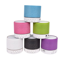 6cm*6cm*7.5cm LED Light Wireless Portable Speakers Subwoofer Tweeter Audio Notebook Computer