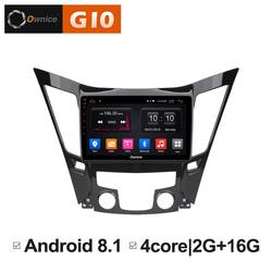 9 дюймов Android 8,1 Quad 4 Core 2 ГБ Оперативная память + 16 ГБ Встроенная память радио для hyundai Sonata 2011- 2014 dvd-плеер автомобиля gps навигации стерео BT WI-FI