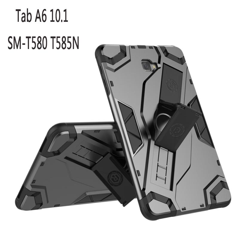For Samsung Galaxy Tab A 10.1 2016 T580 T585 T580N Tough Impact Case Heavy Duty Armor Hybrid Anti-knock Silicon Hard Back Cover