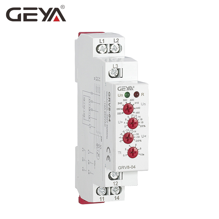 цена на GEYA GRV8-04 Three Phase Voltage Control Relay Phase Sequence Phase Failure Over Voltage Undervoltage Protection