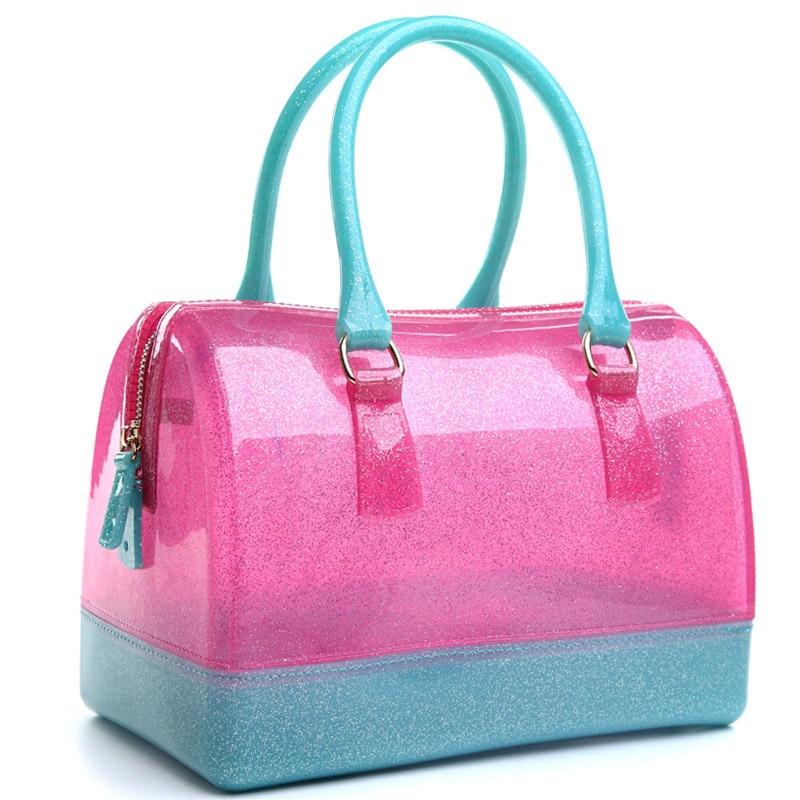 여자 핸드백 가죽 가방 새로운 젤리 캔디 베개 가기 - 핸드백 - 사진 5